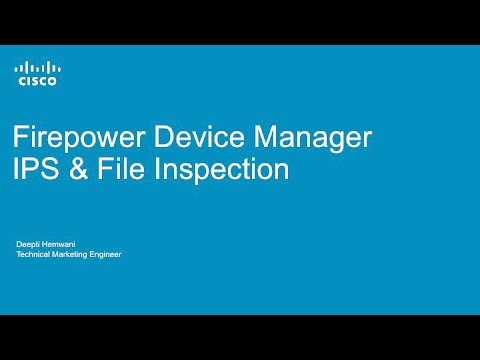 Applying Intrusion Prevention and Advanced Malware Protection with Firepower Device Manager