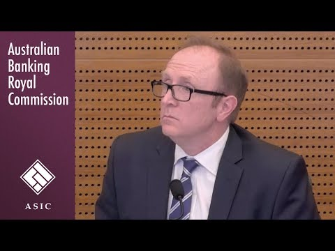 ASIC's head of financial services enforcement testifies again at the Royal Commission (5.22)