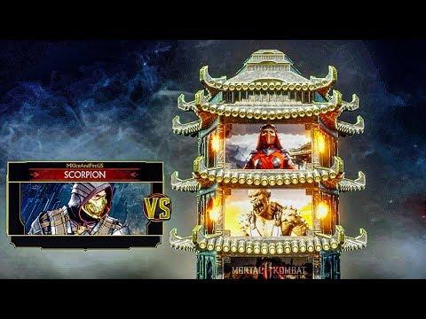 MORTAL KOMBAT  Scorpion Klassic Tower Gameplay (No Commentary)