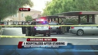 Person stabbed at apartment complex near Rancho, Lake Mead