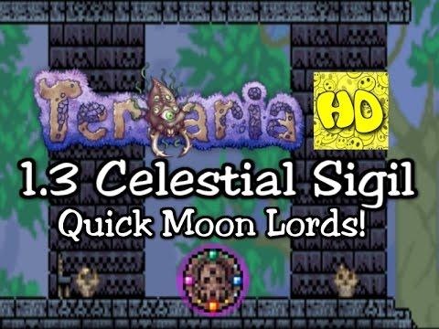 Terraria 1.3 Celestial Sigil Moon Lord Summon | 1.3 new items | 1.3.0.5 update