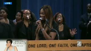 Yolanda Adams, Bishop Paul S. Morton - Aretha Franklin funeral