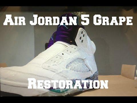 NIke Air Jordan 5 Grape Restoration, Cleaning