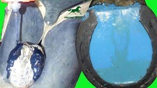 Наращивание копыта клеем и заполнение силиконом Horse Master
