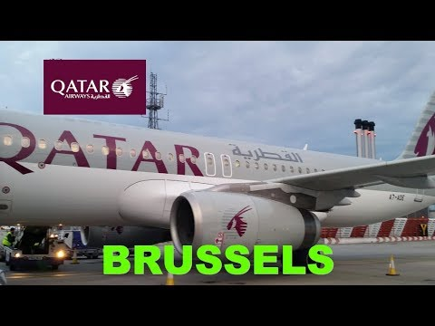 RARE business class  BA flight operated by Qatar Airways LHR to BRU flight review during BA strike