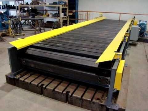 Omni Metalcraft Corp Heavy Duty Slat Conveyor Youtube