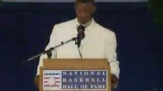 Rickey Henderson Hall of Fame Induction Speech