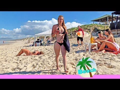 BEACH WALK BRAZIL 4k video FLORIANOPOLIS SC Brasil TRAVEL