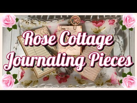 🎀 ROSE COTTAGE JOURNALING PIECES   BEEBEECRAFT DT