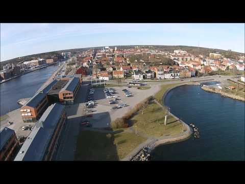 Karlshamn från luften filmat med drönare DJI Phantom Vision 2+