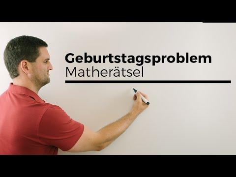 Das Geburtstagsproblem, Interessantes aus der Wahrscheinlichkeit, Matherätsel | Mathe by Daniel Jung