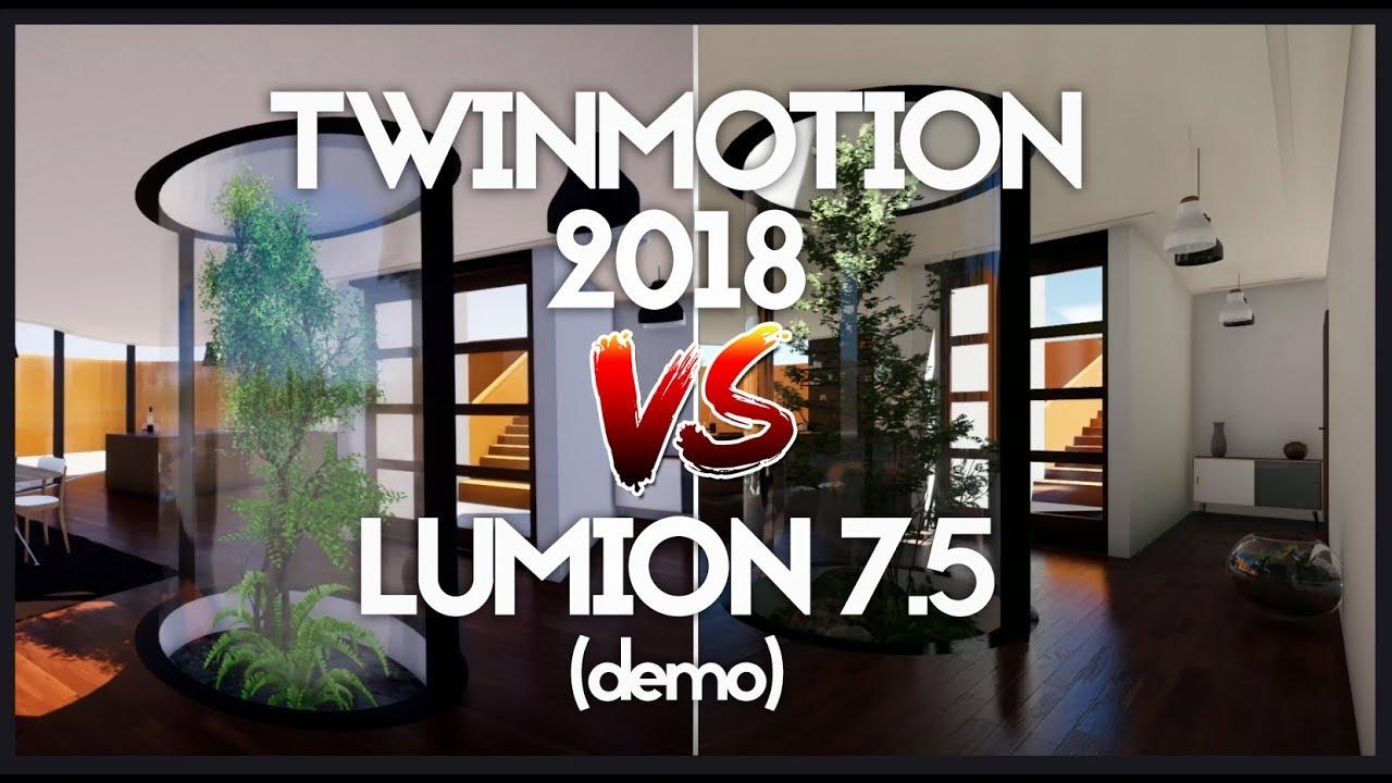 lumion 7 5 (demo) vs Twinmotion 2018