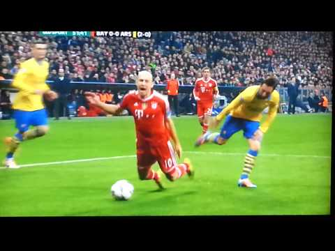Arjen Robben Dive Vs Arsenal