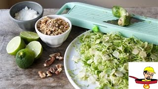 Shaved Brussels Sprout Salad - THANKSGIVING