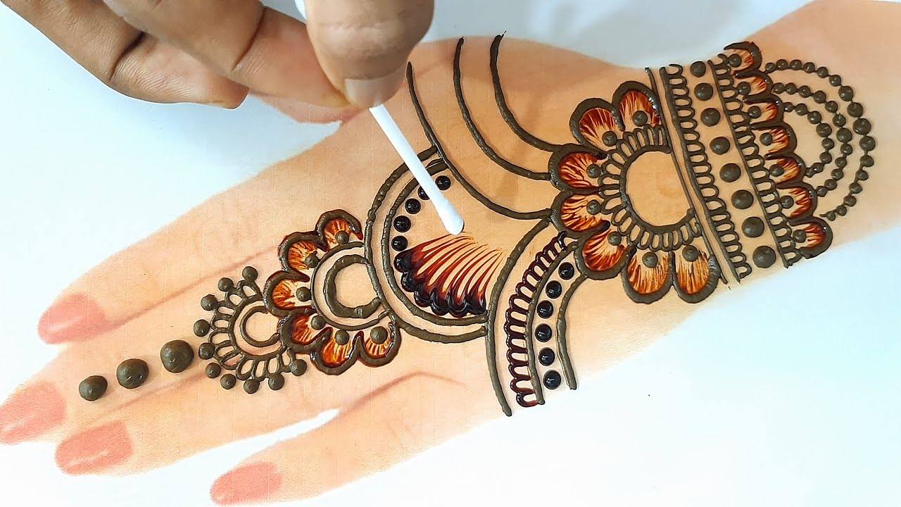 Easy Arabic Mehndi Design Tricks 2021- Back Hand Mehandi Design - Stylish Mehndi for Wedding