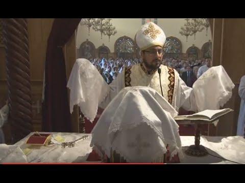 Father Mina Dimitri's First Liturgy in Our Church