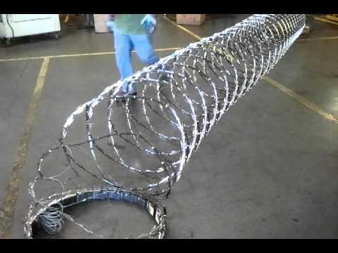 Razor Wire Rapid Barrier Razor Wire International Youtube