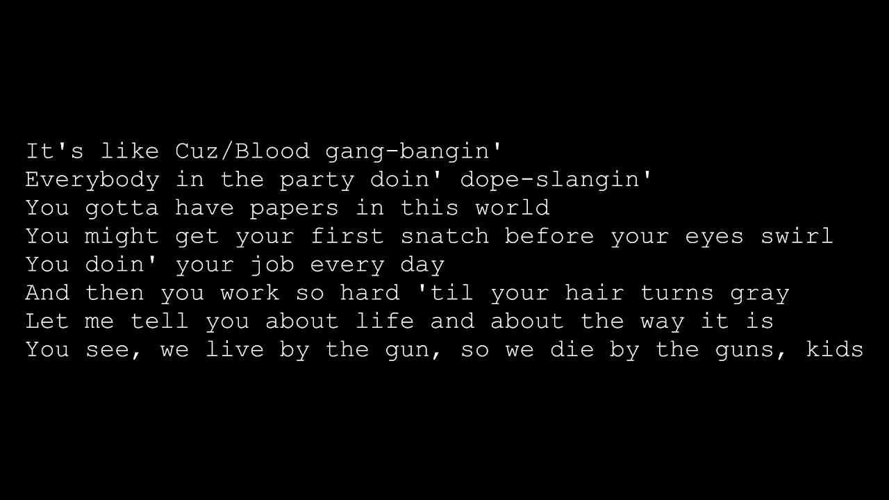 2Pac - 2 Of Amerikaz Most Wanted - Snoop Dogg Lyrics ...