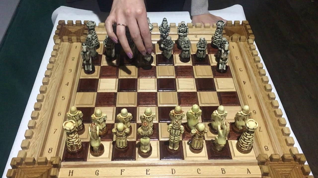 Шахматы ручной работы - YouTube