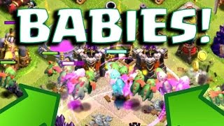 ALL BABY DRAGON / MINER ATTACK! | Clash Of Clans | NEW SUPER TROOP '' NEW UPDATE ''