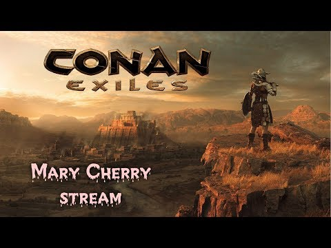 CONAN EXILES. ПВП сервер. девушка Mary Cherry идет в поход.