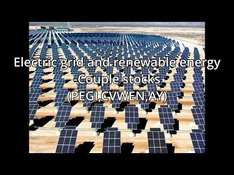 Power grid and Renewable energy - Couple example stocks
