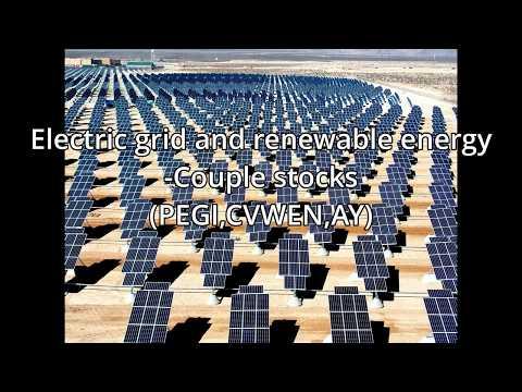Power grid and Renewable energy - Couple example stocks