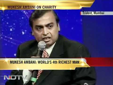 Mukesh Ambani on philanthropist billionaires