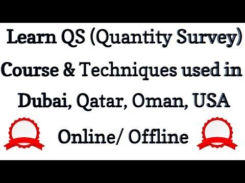 Learn Dubai, Qatar, Oman, USA   QS (Quantity Surveying) Methods   Online Or Offline #Civil4Engineers