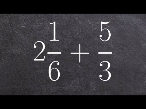 How To Find The Sum Of A Mixed Number And A Fraction