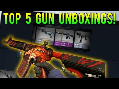 CS GO - Top 5 Most Expensive Gun Skin Unboxing Videos!