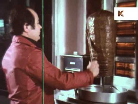1970s UK Kebab Shop, Turkish Food, Takeaway