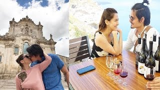 photos of marian rivera and dingdong dantes with baby zia in italy....