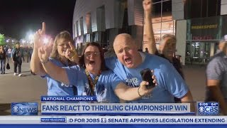 UNC fans in Phoenix celebrate National Championship win