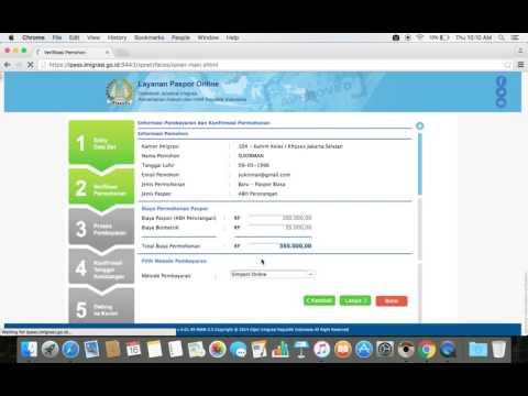 Video Cara Membuat Paspor Secara Online