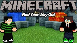 Minecraft: Parkour/Puzzle/Adventure Find Your Way Out w/ Dyzio
