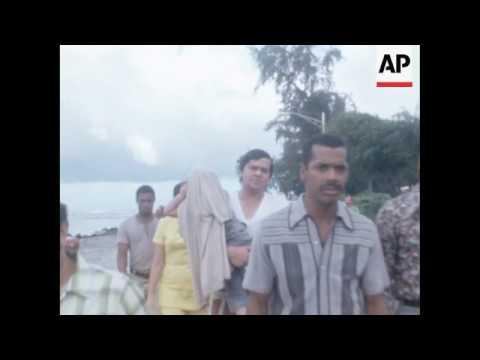 San Juan: Puerto Rico: Crash of Managua supply plane kills baseball star Roberto Clemente.