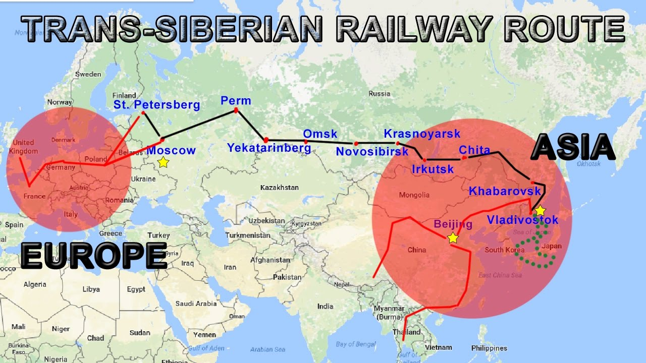 Trans Siberian Railway Explained Route Map Cities Countries