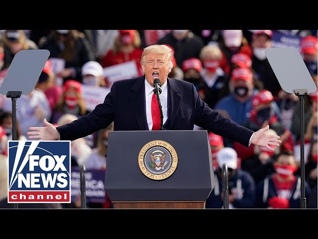 Trump speaks at a 'Make America Great Again Victory Rally' in Wisconsin