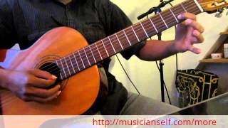 Aaro Viralmeeti on Guitar - How to play Indian classical raga based song on Acoustic/Electric guitar