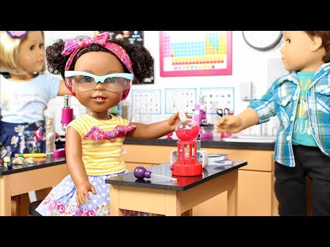 DIY American Girl Dollhouse Science Lab Classroom