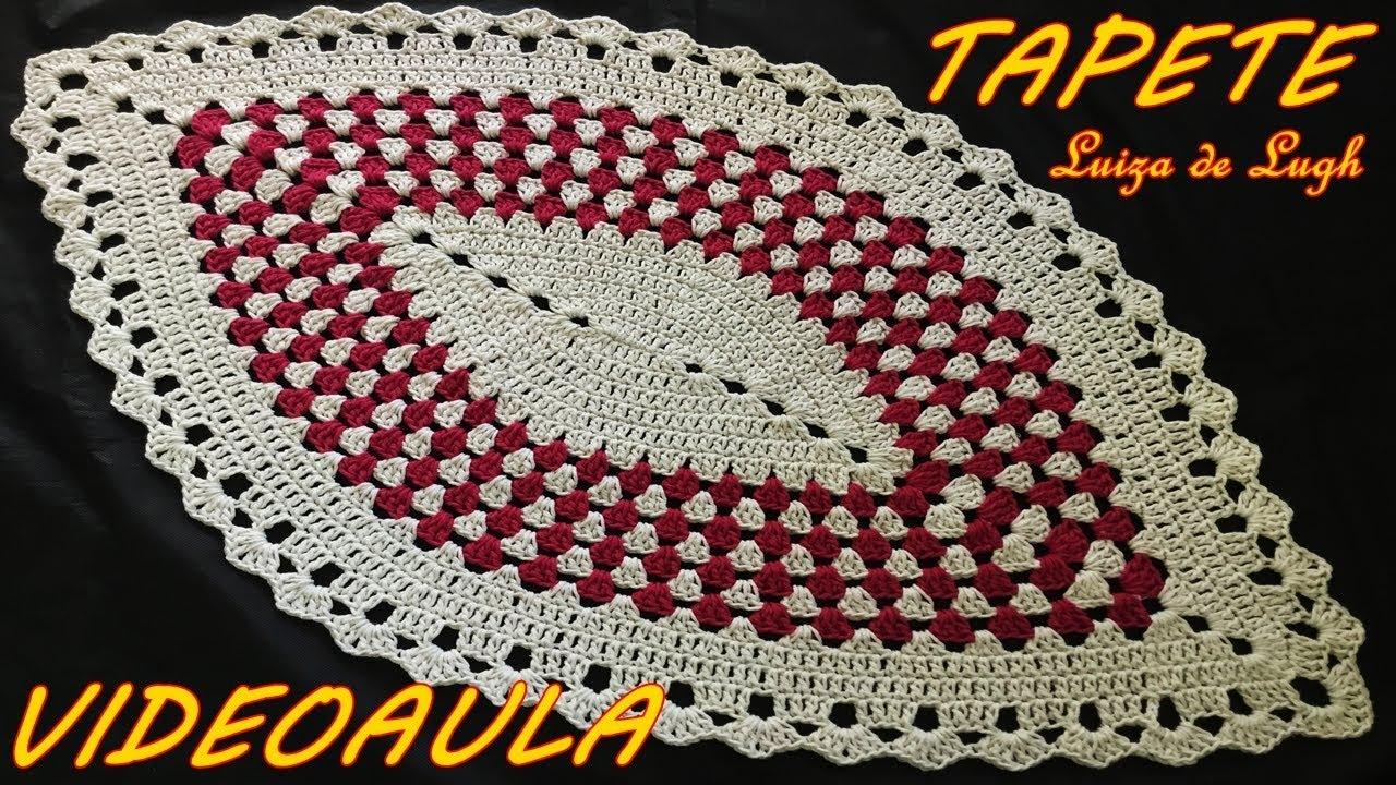 Claudia Regina Tapetes Tapetes De Barbante Claudia Regina Irm  -> Tapete De Croche Oval Simples Passo A Passo