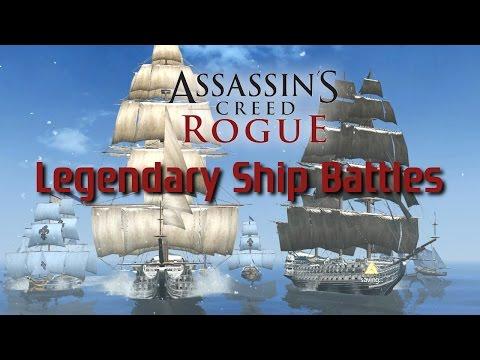 Assassins Creed: Rogue   All Legendary Ship Battles