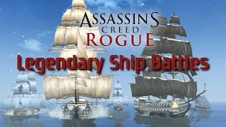Repeat youtube video Assassins Creed: Rogue | All Legendary Ship Battles