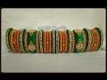 Latest handmade thread bangles_Bridal silk thread bangles