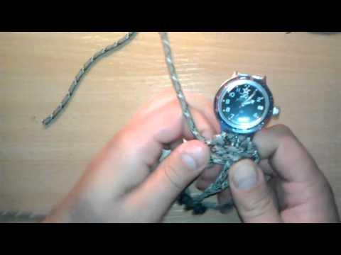 Ремешок для часов из шнурков своими руками