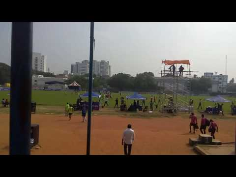 MC Nandhini Aravindan Hosting Reliance Youth Sports Tournament