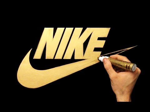 Organizar fluir Restringir  Satisfying Video - How To Draw Nike Logo With Gold Marker - YouTube