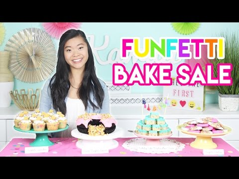 How To Create A FUNFETTI Bake Sale Table Cookies, Cupcakes, And More!