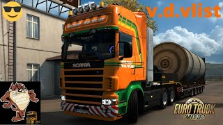 scania 4 serie, short drive with holtrop v.d vlist through Roemenië styling like the real truck ETS2
